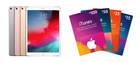 iPads and iTunes gift certificates